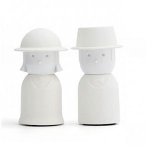 גברת מלח ומר פלפל צבע לבן QUALY