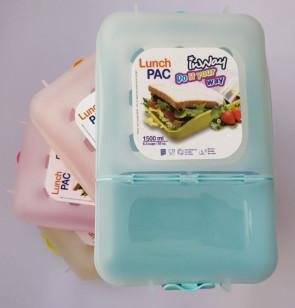 צבעי פסטל  קופסת אוכל מחולקת INWAY