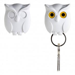QUALY  מתלה מפתחות - ינשוף לבן
