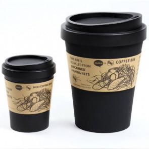 QUALY פח גדול בעיצוב כוס קפה  - The Black