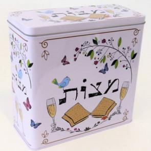 קופסת פח למצה -פסח אביבי