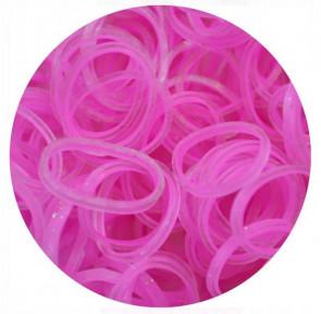 מארז 600 גומיות+24 סוגרים לריינבו לום - Rainbow Loom - ורוד מתוק