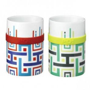 זוג ספלי פורצלן  Matisse Geo