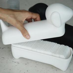 כלי אחסון כלב נקניק לבן - QUALY