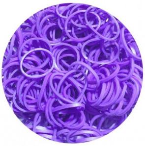 מארז 600 גומיות+24 סוגרים לריינבו לום - Rainbow Loom -  סגול
